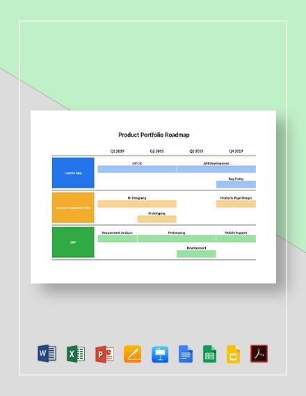 Product Portfolio Roadmap Template