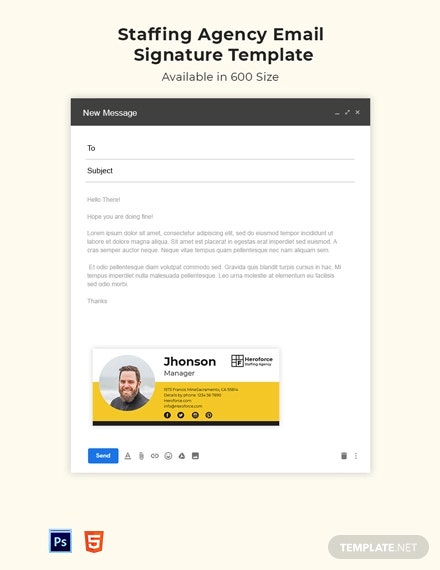 Staffing Agency Email Signature Template