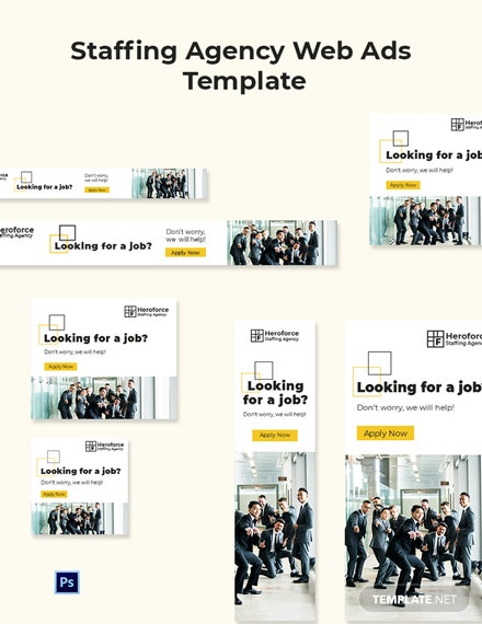Staffing Agency Web Ads Template