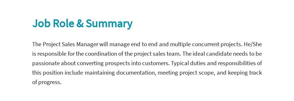 Free Project Sales Manager Job Ad/Description Template 2.jpe