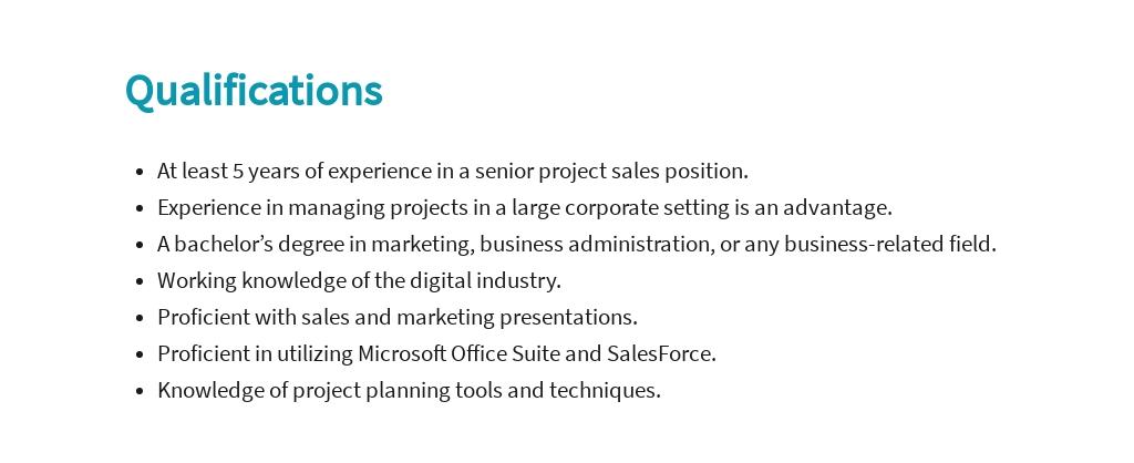 Free Project Sales Manager Job Ad/Description Template 5.jpe