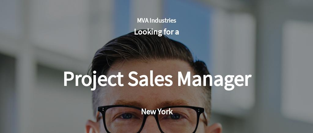Free Project Sales Manager Job Ad/Description Template.jpe