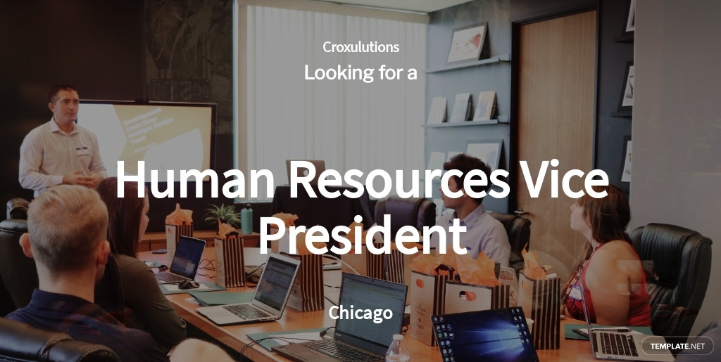 Human Resources Vice President Job Ad/Description Template