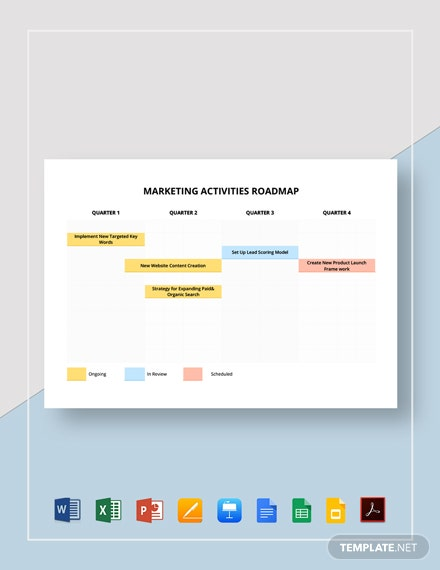 Marketing Activities Roadmap Template