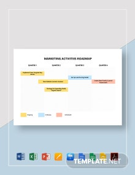 Marketing Activities Roadmap Template