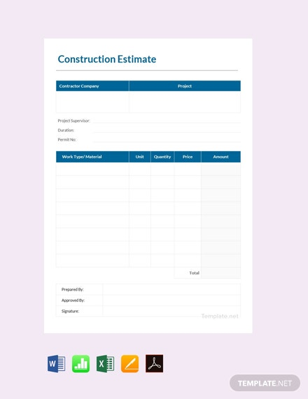 32 Free Estimate Sheet Templates Google Sheets Spreadsheets Template Net