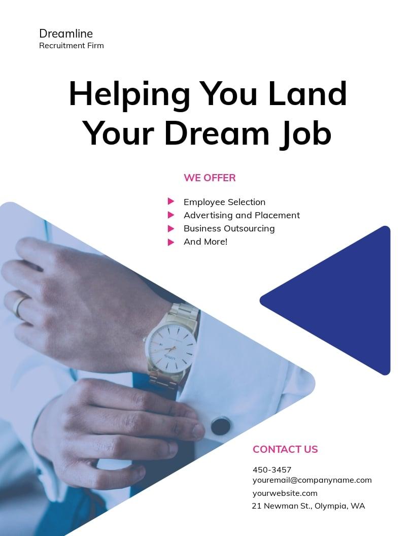 Recruitment Firm Flyer Template