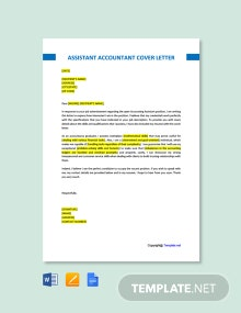 Free Assistant Accountant Cover Letter Template