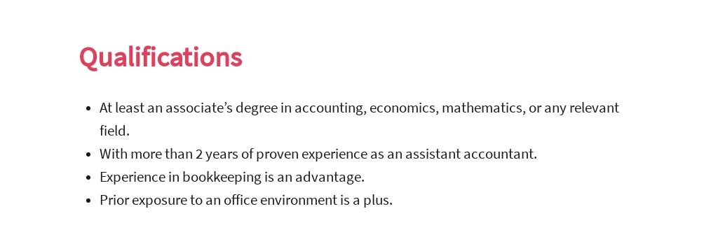 Free Assistant Accountant Job Ad/Description Template 5.jpe