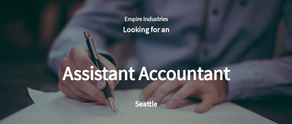 Free Assistant Accountant Job Ad/Description Template.jpe