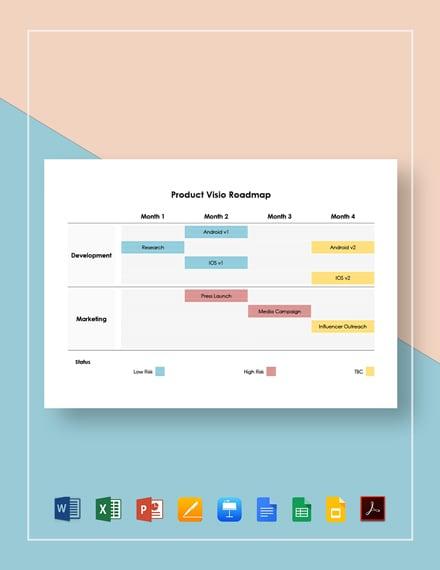 Product Visio Roadmap Template