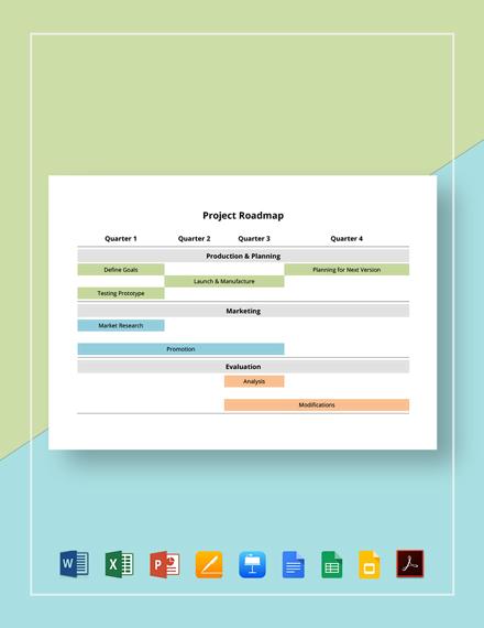 Project Roadmap Template