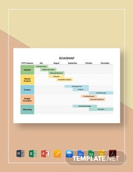 Simple Roadmap Template