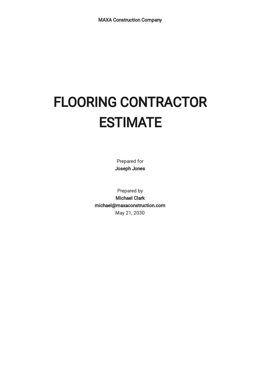 Free Contractor Estimate Template.jpe