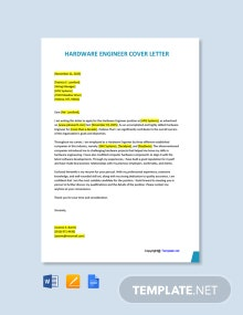 Free Hardware Engineer Cover Letter Template