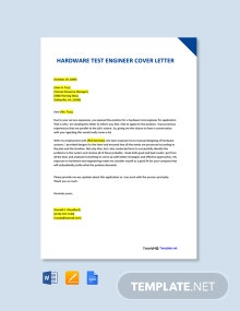 Free Hardware Test Engineer Cover Letter Template