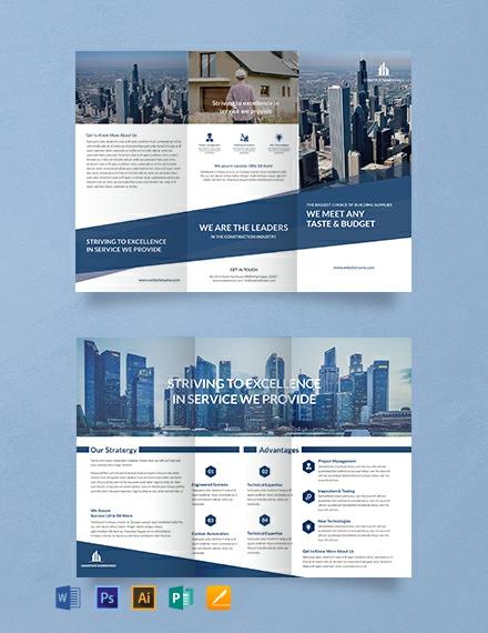 Free Architecture A3 Tri-Fold Brochure