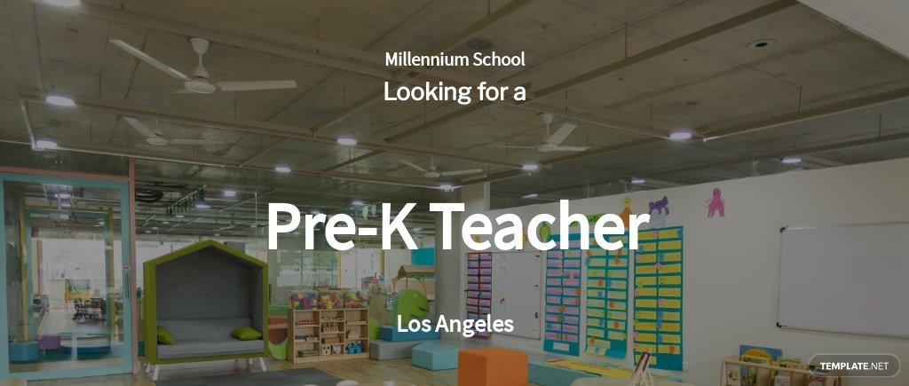 Pre-K Teacher Job Ad/Description Template