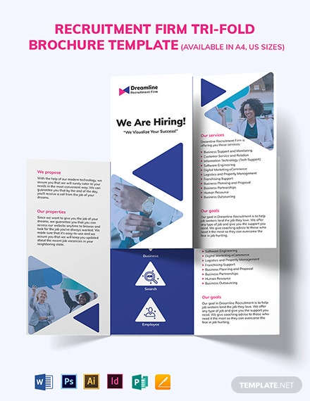 Recruitment Firm Tri-fold Brochure Template