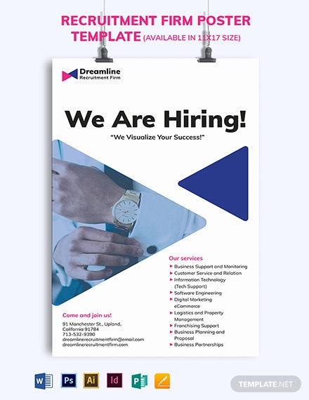 Recruitment Firm Poster Template