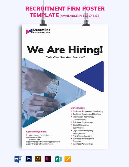 Recruitment Firm Poster Template