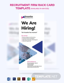 Recruitment Firm Rack Card Template