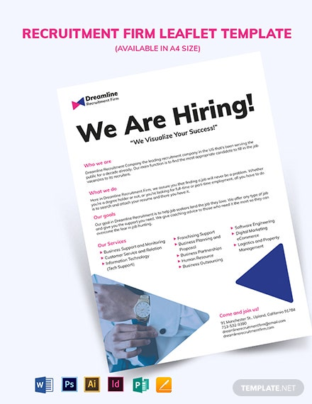 Recruitment Firm Leaflet Template