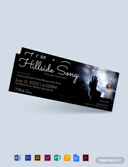 Free Fundraising Ticket Template