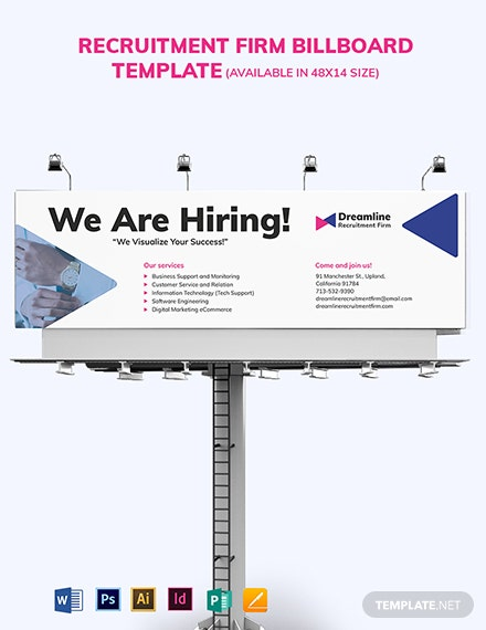 Recruitment Firm Billboard Template