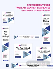 Recruitment Firm Web Ads Template