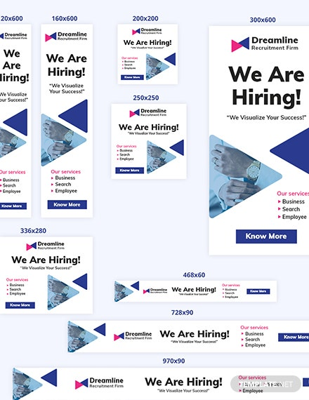 Sample Recruitment Firm Web Ad Banners