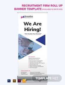 Recruitment Firm Roll Up Banner Template