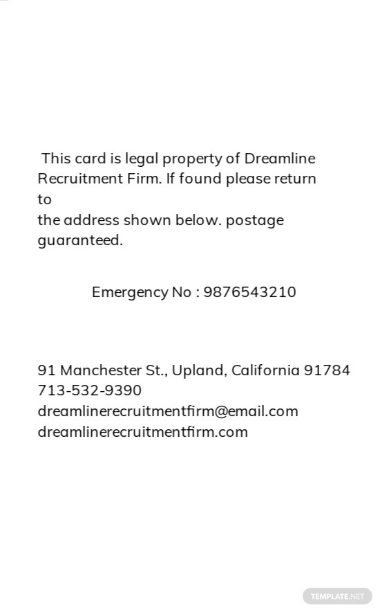 Recruitment Firm ID Card Template 1.jpe