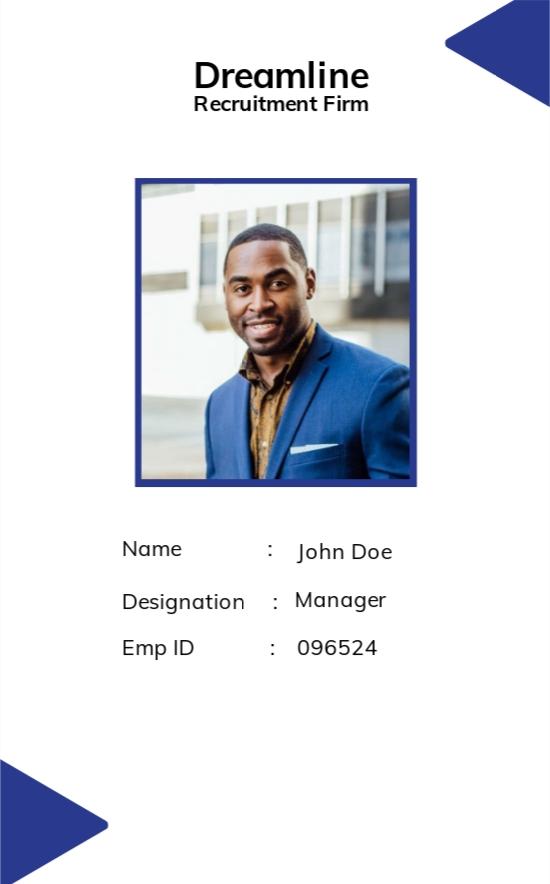 Recruitment Firm ID Card Template.jpe