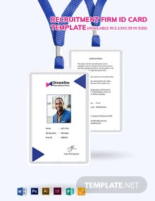 Recruitment Firm ID Card Template