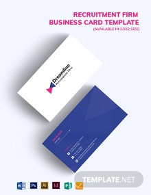 Recruitment Firm Business Card Template
