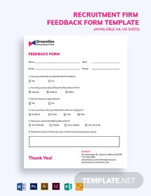 Recruitment Firm Feedback Form Template