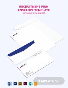 Recruitment Firm Envelope Template