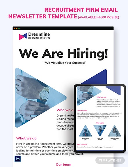 Recruitment Firm Email Newsletter Template