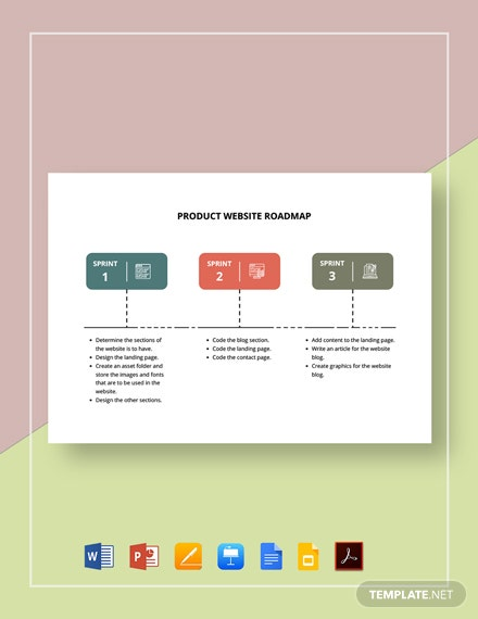 Product Website Roadmap Template