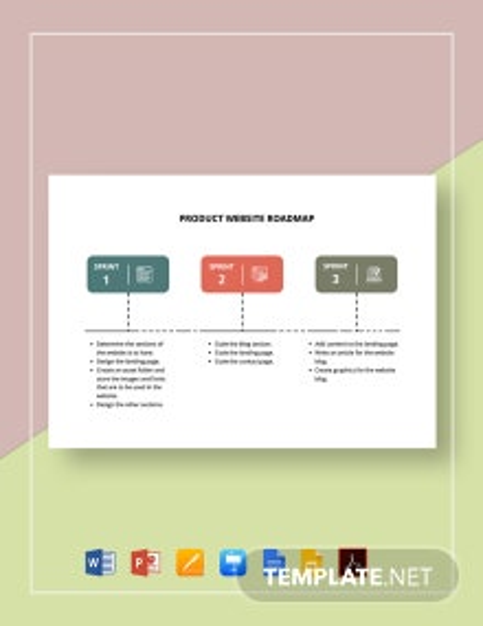 Product Website Roadmap Template