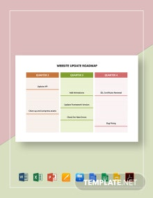Website Update Roadmap Template