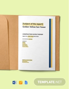 Construction Project Buyout Report Template