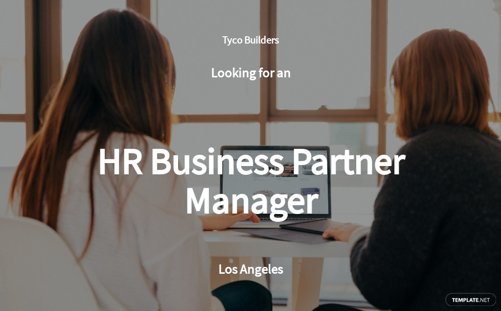 HR Business Partner Manager Job AD/Description Template