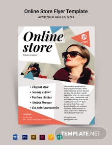 Online Store Flyer Template
