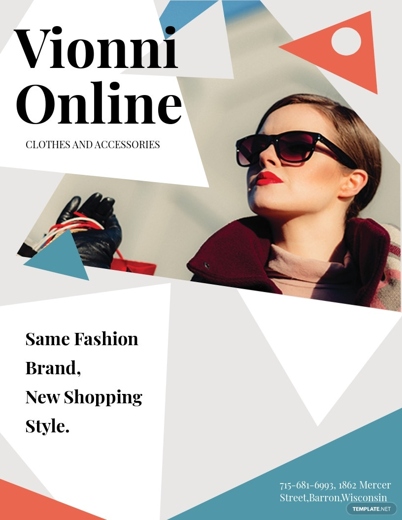 Online Store Flyer Template.jpe