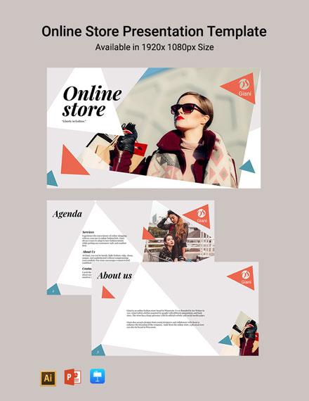 Online Store Presentation Template