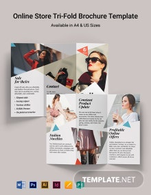 Online Store Tri-Fold Brochure Template