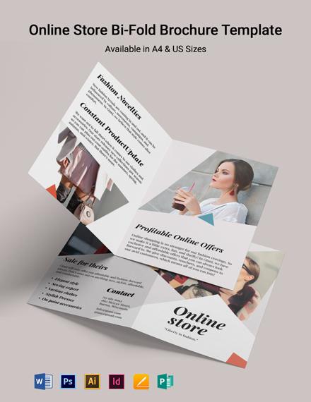 Online Store Bi-Fold Brochure Template