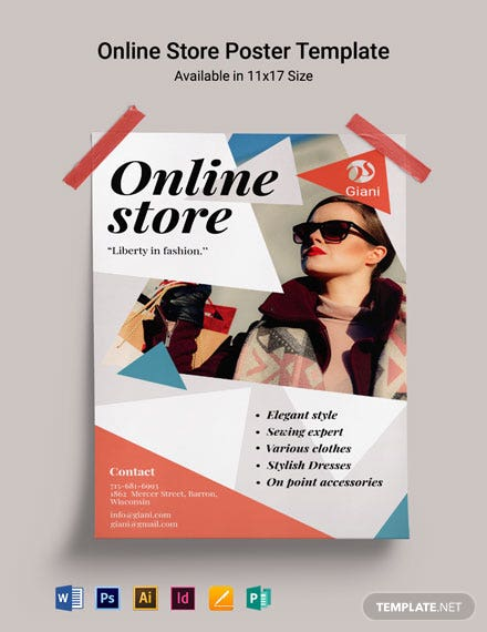 Online Store Poster Template